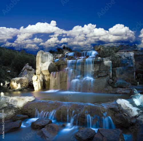 Foto op Canvas fantasy waterfall