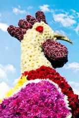 Huhn aus Blumen