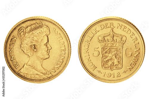 5 Gulden Wilhelmina Niederlande