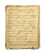 Leinwanddruck Bild - Musical Note