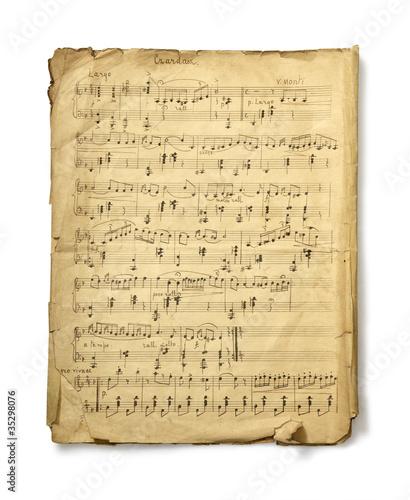 Leinwanddruck Bild Musical Note