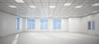 3D big empty white office - 35299254