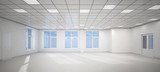 Fototapety 3D big empty white office