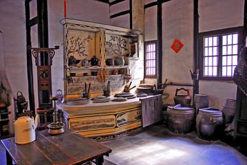 Shanghai water village Zhouzhuang old kitchen.