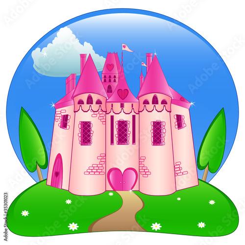 Foto op Aluminium Kasteel Princess castle