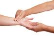 Finger messen Blutdruck