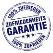 zufriedenheitsgarantie 100% zufrieden stempel - 35302043