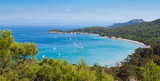 Fototapety Panoramic view of Porquerolles island in France