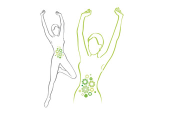 Silhouette donna flora intestinale