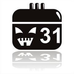 black halloween calendar icon