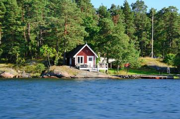 Red Cottage on the St. Anna Archipelago (Sweden)