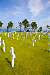 View at American Cemetery in Normandy, France