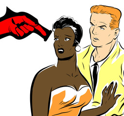 racisme , agression contre les couples mixtes