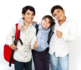 Happy schoolboys