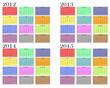 Calendario año 2012-2013-2014-2015 en ingles