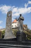 Monument to Ukrainian poet Taras Shevchenko poster