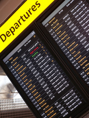Arrival departures board