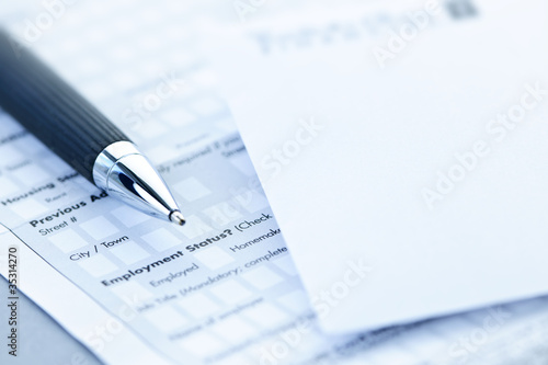 Financial application form