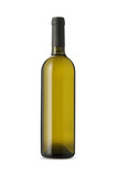 white wine bottle isolated - Fine Art prints