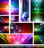 Fototapety Business Card Collection: Flow of lights set 5