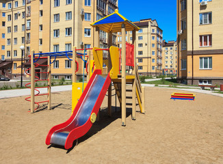 Children's playground in the new neighborhood.