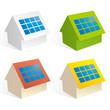 太陽光発電の家アイコン