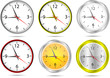 Vector office clocks