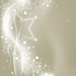 Christmas silver lights vector background