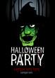 Halloween Party Design template with witch and place for text
