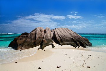 Beach in Anse source d'Argent