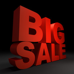 3d text BIG SALE