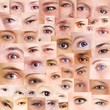 Collage aus vielen verschiedenen Augen