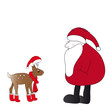Rentier Kitz und Weihnachtsmann