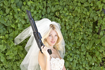 Serious bride