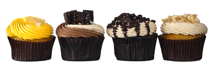 Four luxury Cup Cake with creamy topping