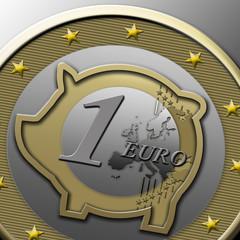 Euro mit Sparschwein