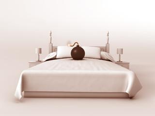 Bomba sobre una cama