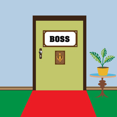 The holy door of the boss
