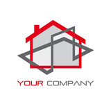 Logo house, real estate agency # Vector poster
