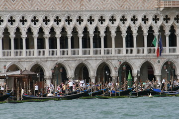 Venice with the sea and palace of Doge