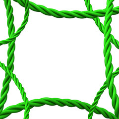 Abstract 3d background frame - green ropes