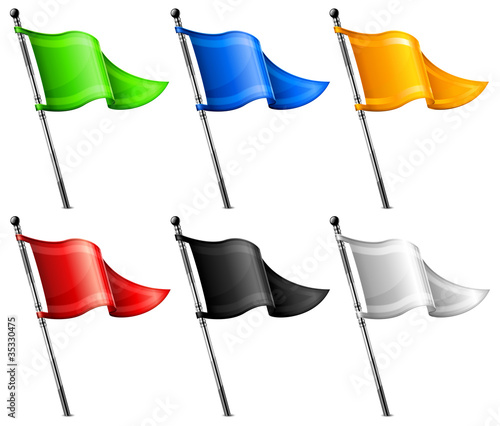 Set of triangle flags