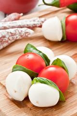 mozzarella skewers