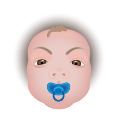 Baby with a pacifier