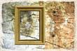 Texture - muro vecchio con cornice