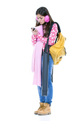 girl ready to go to school