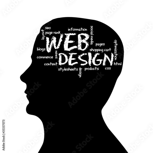 Silhouette head - Web Design