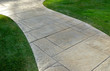 Lawn and paved walkway