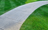 Fototapety Lawn and pathway