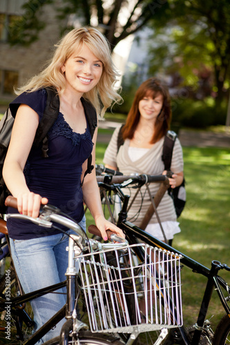 Students with Bikes